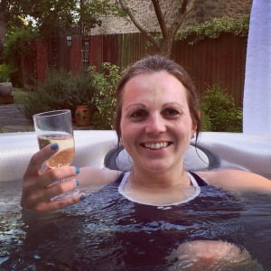 hot tub after the race
