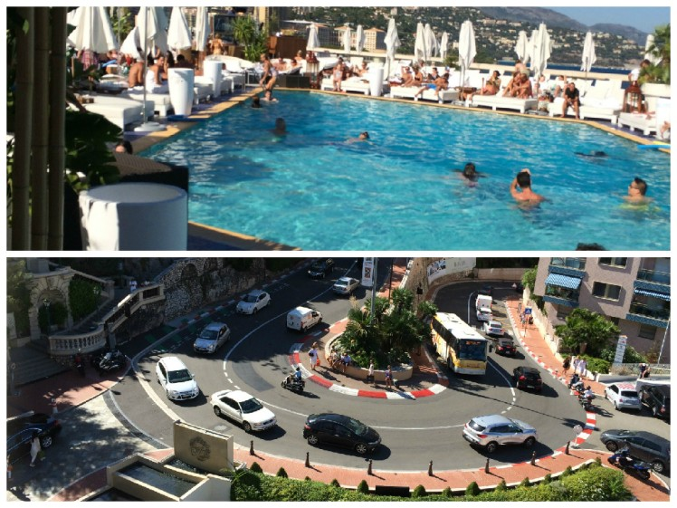 The Swimming Pool and Hairpin at the Fairmont Hotel Monaco