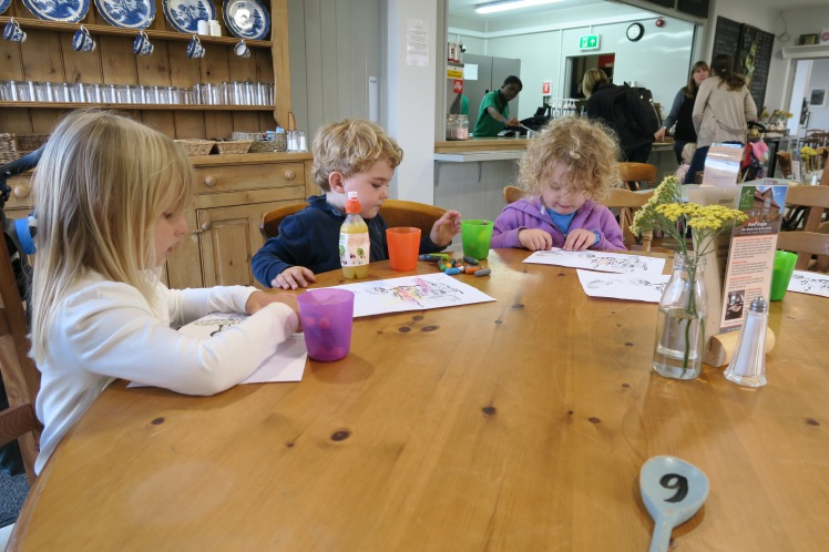Children in the cafe