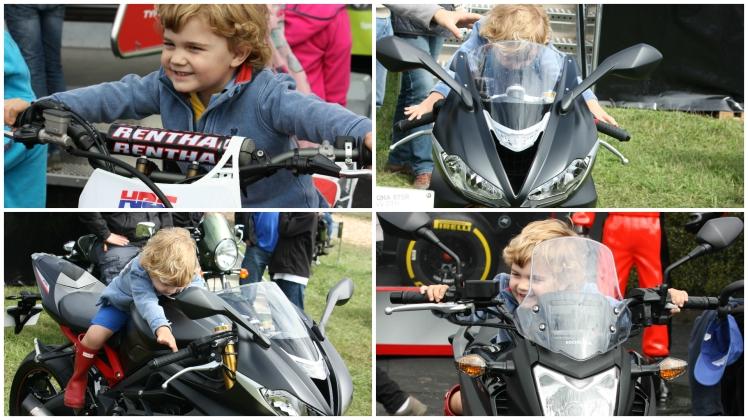 Little J on a motorbike