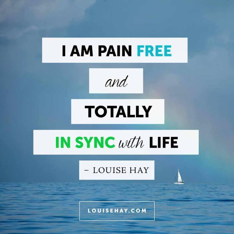 I'm pain free