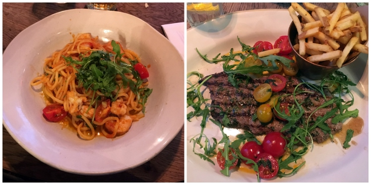 Main courses at Jamie's Italian in Oxford
