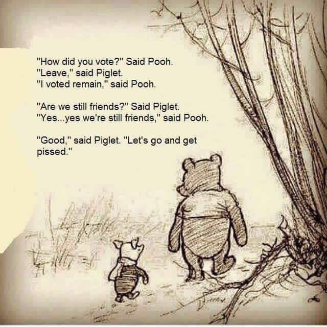 Pooh & Piglet unite after Brexit