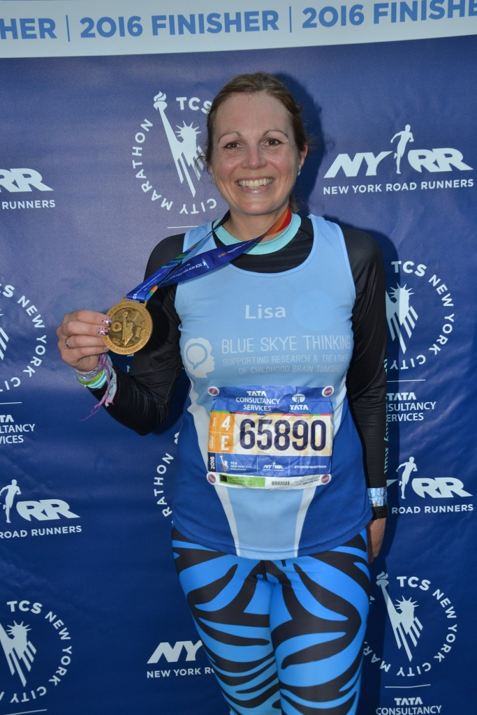 Finisher photo with medal